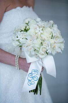 Preppy Bridal Bouquet With Monogram