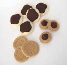 Felt Peanut Butter cookies, etc