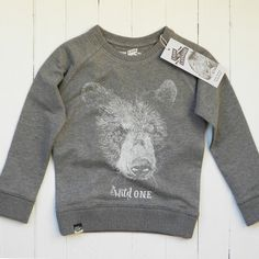 Lion Of Leisure Charcoal Bear Sweater - Hip And Green