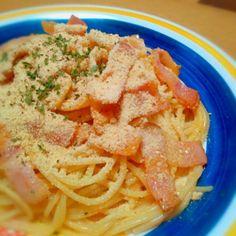 とても簡単なのに、おいしかったですー!  でも、まだまだ こうした方がよかったな(>_<) っていうところがあったので 近々また挑戦します!(`・ω・´) - 77件のもぐもぐ - Chef 中川浩行さんの家庭でも出来るローマ風カルボナーラ! by orionb25