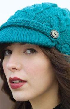 free newsboy hat knit pattern