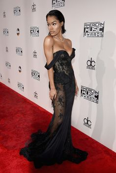 Forever in Black. American Music Awards 2016: Best-Dressed Celebrities including you! Lace peak-a-boo is in, Place your lace for precision allure! Pack your Sexy and get out there with travel planning by PJ!