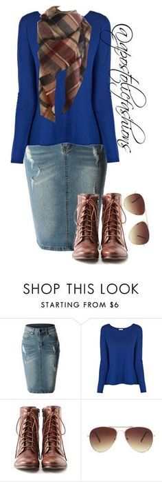 """""""Apostolic Fashions #909"""" by apostolicfashions on Polyvore featuring LE3NO, American Vintage, Liz Claiborne and Forever 21"""