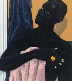 Tableaux sur toile, reproduction de Kerry James Marshall, Untitled - Pink Towel - 2014