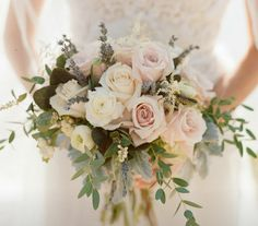 Possible bridesmaid bouquet - like the spray affect