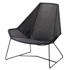 Breeze highback outdoor lounge chair, black / cane-line