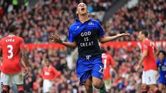 steven pienaar of everton & south africa. scoring the late equalizer. emotion