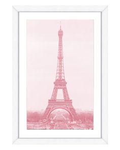 Pink Eiffel Tower Print