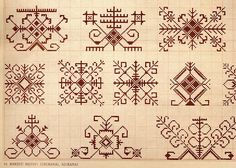 Latvian folk designs for embroidery