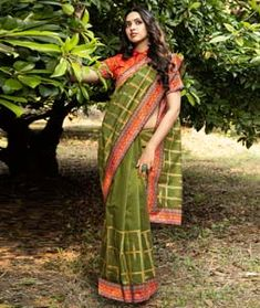 Chanderi Silk Chanderi Silk Saree, Silk Sarees, Long Cut, Printed Sarees, Blouse Online, How To Dye Fabric, Green Fabric, Color Shades, Digital Prints