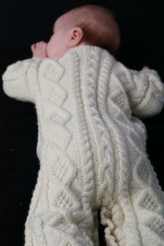 Crochet Patterns Onesie LOVE this for a winter outfit or bundle…bulky yarn and some booties and mitten… Baby Sweater Knitting Pattern, Baby Knitting Patterns, Baby Patterns, Crochet Patterns, Knitting For Kids, Free Knitting, Knitting Projects, Cable Knitting, Baby Cocoon