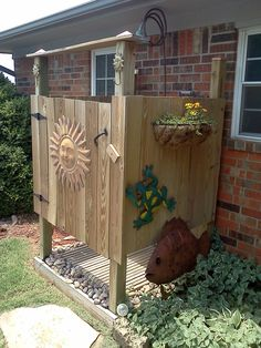 Outdoor shower I need at the property.