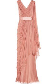 peach silk chiffon dress by Alberta-Ferretti.    Google Image Result for http://www.fashionfuss.com/wp-content/uploads/2010/12/Alberta-Ferretti-Draped-Silk-Chiffon-Gown-1.jpg