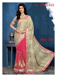 Smart dressing and great styling makes you the apple of your loved one's eyes. Make simplicity a dominant part of your persona and dress up with elegance. Check out the wonderful collection of half-half saree housed at MohiniSareeOnline and make a purchase today to be a lady with class.