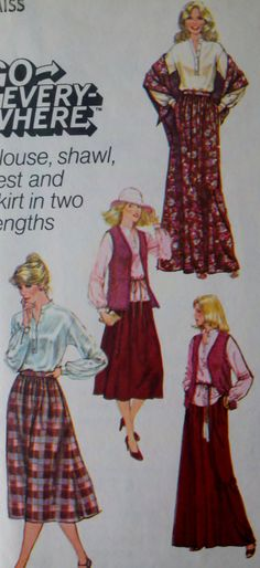 c11e4af49942 Simplicity 8756 Vintage 70's Womens Sewing by Sutlerssundries, $7.00  Pattern Grading, Vintage 70s,