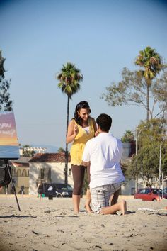 """How to propose using art.  """"Artistic and Beach Proposal"""" planned by The Heart Bandits"""