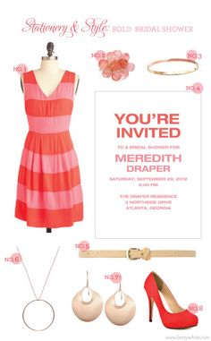 Stationery & Style: Bold Bridal Shower | Flights of Fancy