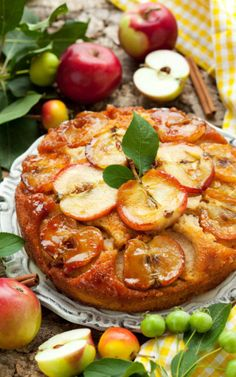 Love inventing upside-down cakes and this one looks stupendously yummy.  Apple Cinnamon Upside-Down Cake