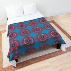'Free Mandala' Comforter by Arrowsmith Design Mandala Comforter, Comforters, My Arts, Kids Rugs, Art Prints, Contemporary, Printed, Bedroom, Awesome