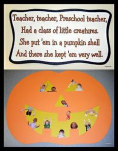 This autumn pumpkin/Halloween classroom display from Betsy over at Tippytoe Crafts is stinkin' adorable! The poem is super fun, the photos of the kiddos are hilarious, and the overall effect is...