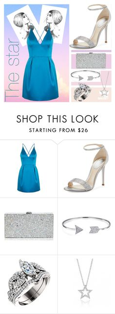 """""""Lucky Star"""" by mrs305aka ❤ liked on Polyvore featuring Topshop, René Caovilla, Milly and Bling Jewelry"""