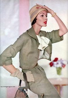 Vogue - February 1957. @Deidra Brocké Wallace