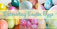 Stenciled Easter Egg Ideas!