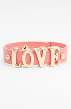 Carole 'Love' Wrap Bracelet (Juniors) (Online Only) available at #Nordstrom @Kimberly Giardino saw this and thought you might like it for yourself and your girls. :)