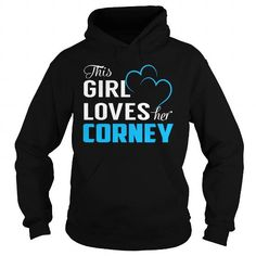 Cool This Girl Loves Her CORNEY - Last Name, Surname T-Shirt T shirts