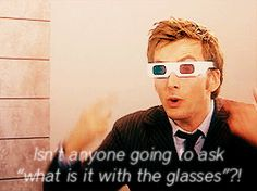 Doctor Who (doctor who,ten,tenth doctor,david tennant,3-d glasses) Gif