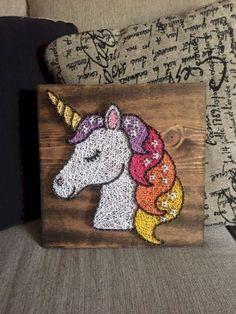 Creative Diy String Art Ideas Projects (Step-By-Step Tutorial) – Verwirrend – Craft String Art Templates, String Art Patterns, Diy Art Projects, Projects For Kids, Project Ideas, Diy Nail Designs, Diy Design, String Crafts, Unicorn Crafts