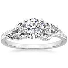 18K White Gold Jasmine Diamond Ring - why does Brilliant Earth always have the prettiest everything? Wonder if this one has a matching band like Willow...