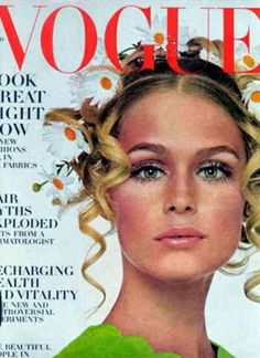 My inspiration for this show was a young Lauren Hutton (circa early 1970's). Natural glowy skin, lightly bronzed and glossed eyelids and a fresh rose lip stain.