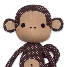 Cute Monkey doll sewing pattern | YouCanMakeThis.com