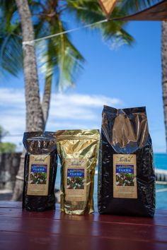 """Kona Coffee is prized the world over as a gourmet coffee – rich, smooth, and delicious. Our Kona Coffee is hand-picked, processed and sun-dried right here in Kona on the fertile slopes of Hualalai Mountain – considered the epicenter of """"Kona Coffee"""". We take the beans from tree to roast and guarantee a cup of coffee you will love! Kona Coffee, Continental Breakfast, Sun Dried, Root Beer, Fruit Trees, Coffee Cups, Roast, Bbq, Beans"""