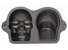 10-c. 3-D Skull Pan by Wilton