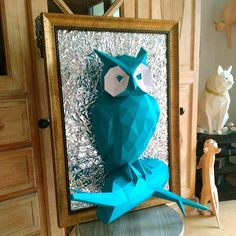 Make your own papercraft owl on its branch with our PDF pattern