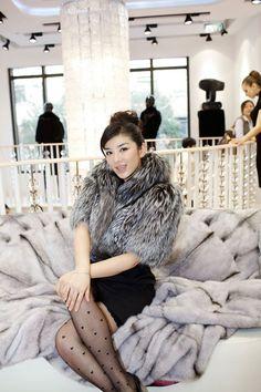 Chinese actress HuangYi wears only AVANTI FURS creations...! www.avantifurs.com