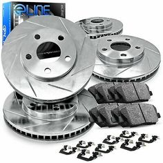 Rear Brake Rotors /& Ceramic Pad 2005 2006 2007 2008 2009 2010 2011 2012 Acura RL