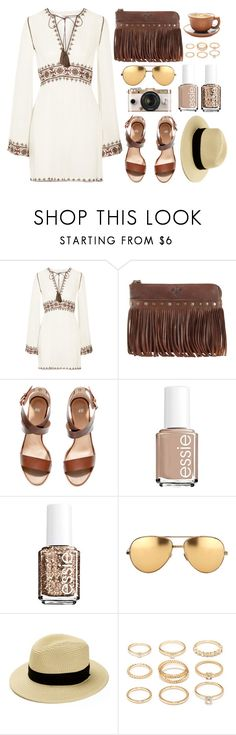 """Boho Chic"" by monmondefou ❤ liked on Polyvore featuring Talitha, Patricia Nash, H&M, Urban Outfitters, Essie, Linda Farrow, Forever 21, Summer, boho and festival"