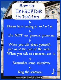 How to improvise in Italian – Lesson of Italia hahahahaha THIS