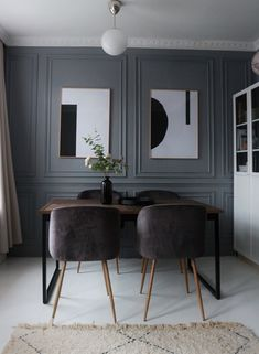 How to Create Architectural Wall Panels/Moldings – A step-by-step DIY Tutorial Double frame wood pannels This image has get. Living Room Grey, Living Room Decor, Living Area, Wall Panel Molding, Diy Wall Panel, Wall Panel Design, 3d Wall Panels, Wood Panel Walls, Casa Milano