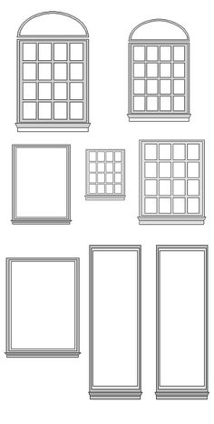 Window Templates: enlarge or reduce as needed