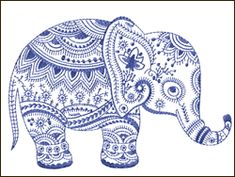 Elephant embroidery design                                                                                                                                                                                 More