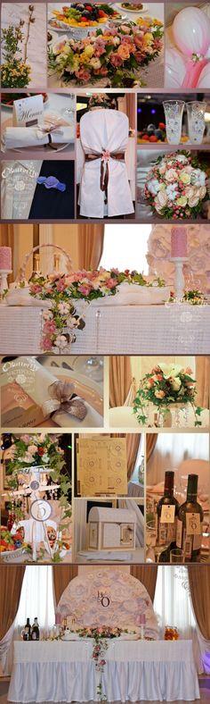 Оформление свадьбы в нежно розовых и шоколадных тонах