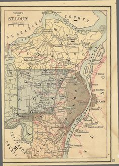 old map of STL