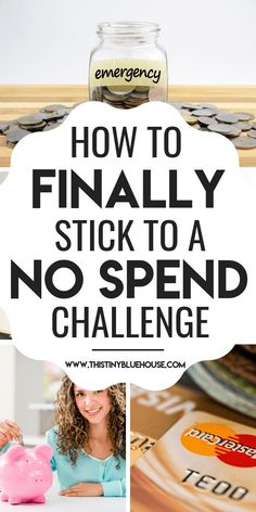 How To Take On A No Spend Challenge in 2019 - This Tiny Blue House - Finance tips, saving money, budgeting planner No Spend Challenge, Savings Challenge, Money Saving Challenge, Savings Plan, Money Saving Tips, Money Tips, Managing Money, Save Money On Groceries, Ways To Save Money