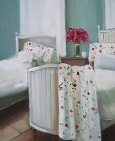 """""""Laundry Day"""" by Janet Hill Sweetest Devotion, Mid Century Interior Design, Janet Hill, Lisbeth Zwerger, Canadian Artists, Room Paint, Beautiful Artwork, Painting Inspiration, Home Art"""
