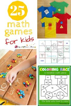 25 Math Games for Kids - get kids excited about learning new math concepts with 25 math activities for kids!