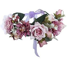 2df99289a4d Diadem AWAYTR Flower Crown Wedding Bride Wreath of Flowers Head Band  Bohemia Women Hair Accessories Flower Headband Headpiece